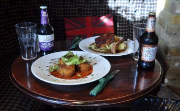 Youn'g style lunch served with Double Chocolate Stout, Sticky Toffee Pudding Ale